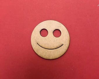 Wooden blank smiley