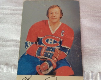 Vintage photograph card signed Yvan Cournoyer 1963 1979