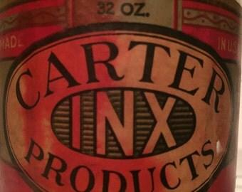 1920s Carter INX Carmine Red Ink 32 oz Bottle