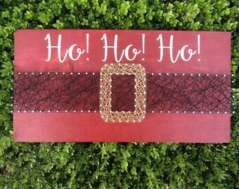 Santa Belt 2-ways String Art *Made-to-Order*