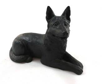 Collie dog made from coal