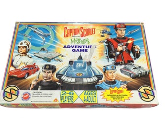 Vintage Captain Scarlet and the Mysterons Adventure Game