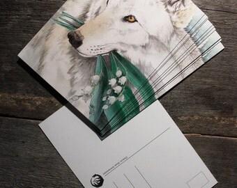 White Noise postcard print