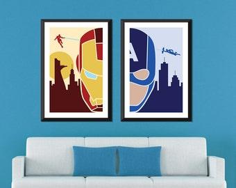 Marvel Minimalist: Ironman & Captain America Civil War Set