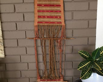 Vintage Navajo inspired wall hanging  woven tapestry