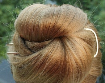 Square Hair Fork Hair Stick, Bun Pin Bun Holder Minimalist Hair Pin, Hair Pick, Geometric Hair Accessories Bun Slide, Women Gift for Her