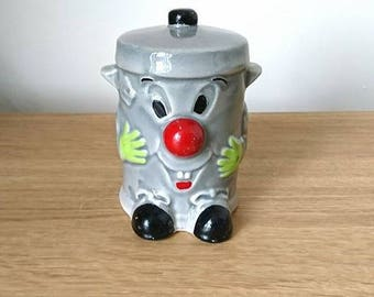 Vintage Money Box Dusty Bin Ceramic Piggy Bank, Cash Box, Retro Money Box Children's Money Box Savings