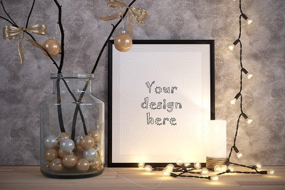 Christmas Grinch Quote 8 X 10 Digital Print Instant By: Mockups Design Merry CHRISTMAS Mockup 8x10 Frame Mock Ups