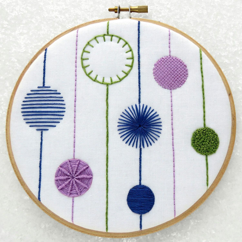 Embroidery sampler kit modern diy wall