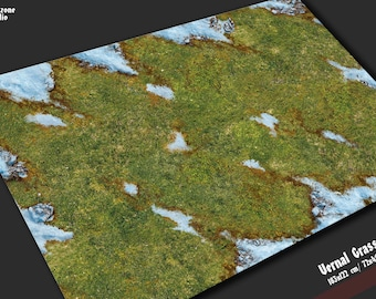 Battle mat: Vernal grass - terrain scenery for 28mm scale model board wargames - Warhammer, AoS, Warmachine, Lord Rings, Malifaux