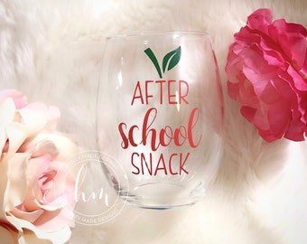 After School Snack Stemless Wine Glass