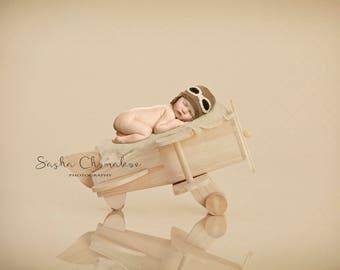 digital backdrop  background newborn baby girl or boy  plane airplane cream off white pilot