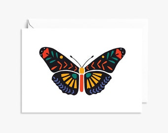 Black Butterfly Folk | Illustrated Greeting Card