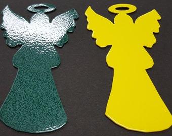 Angel, Christmas Tree Ornament, Traditional Christmas Tree Ornament, Stocking Stuffer, Christmas Gift, Metal Angel, 1st Couple Christmas