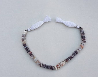 """3 strands of RED LACE AGATE Square beads 4-6mm 8"""""""