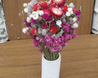 Dried flower arrangement, rustic wedding decor, floral arrangement, wedding centerpiece, home decor, natural decor,dried flowers,table decor