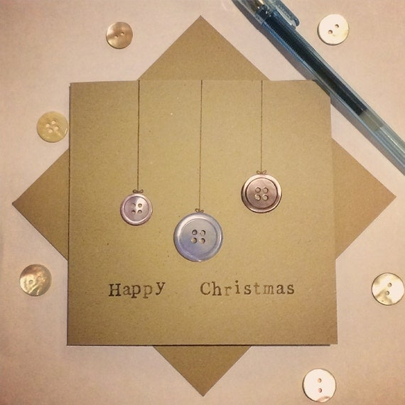 Bauble Card made from upcycled buttons