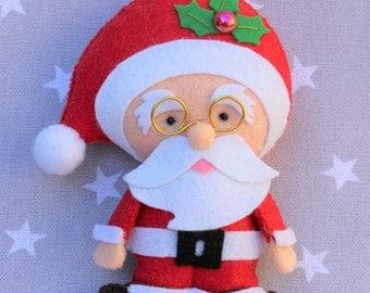 Christmas decoration: Santa Claus, ornament Christmas, gift Christmas, snowman felt Christmas tree, ornament tree, Santa Claus Christmas