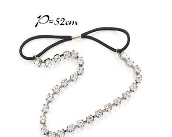 Crystal stone Elastic Hair Rubber band And Hair bands women's hair bands wedding hair bands