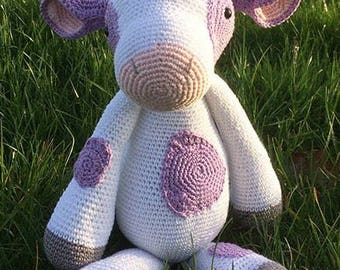 Crochet Crocheted Milka/Milka cow cow/hug Toy