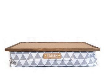 Light Laptop Tray With Pillow / Eco Friendly Lapdesk  / Serving Tray /  Laptop Cushion / Wood Lap Desk  / Ergonomic Laptop Table / Lap Desk