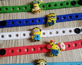 10  Minions Silicone Bracelets Party Favors