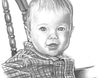 """8""""x10"""" graphite pencil portrait"""