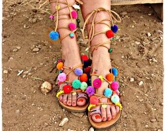 "Honolulu""luxurious leather sandals,handmade sandals,Greek sandals"