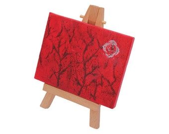 Root Chakra mini canvas with easel