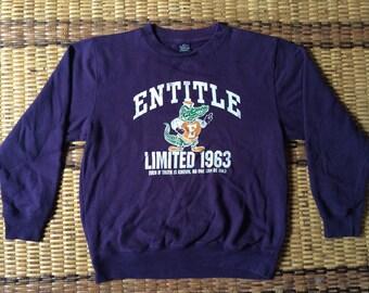 Vintage 90's New Wave Club Sport Classic Design Skate Sweat Shirt Sweater Varsity Jacket Size L #A596