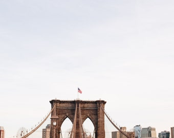 New York City, NYC, Brooklyn Bridge, Brooklyn, Unique Perspective, Architecture, Print, Fine Art Photograph, Travel Photo, Wall Art
