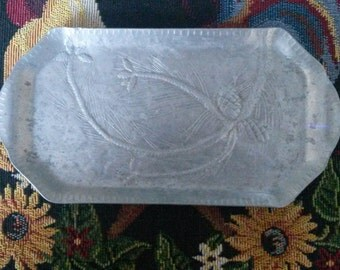 Vintage Hand Forged Aluminum Tray by EVERLAST