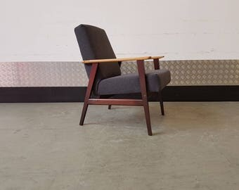 Vintage Armchair Scandinavian Mid Century Fully Rstored Upholstered Chair