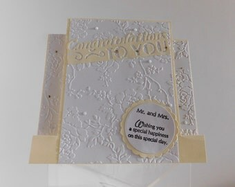 Congratulations Mr and Mrs: Wedding Card, Anniversary Card, Congratulations to You, Special Couple, Best Wishes, Standard Step with A2 Style