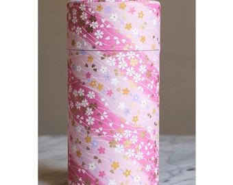 Beautiful pink flower tea box cherry very nice gift
