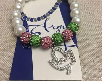 Alpha Kappa Alpha Pearls and Bling