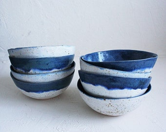 Two color winter bowls
