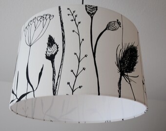"Ceiling lamp ""herb garden"" (black-white)"