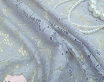 Grey Lace Fabric Grey Lace For Handmade Floral Lace Wedding Grey Lace Bridesmaid Grey Lace For Making Clothes Craft