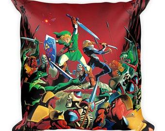The Legend of Zelda: Ocarina of Time Link and Sheik Pillow