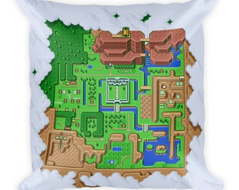 The Legend of Zelda: A Link to the Past Hyrule Map Pillow