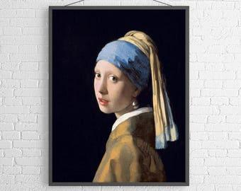 Girl with the Pearl Earring, Johannes Vermeer, Johannes Vermeer Art, Johannes Vermeer Girl with the Pearl Earring, 202