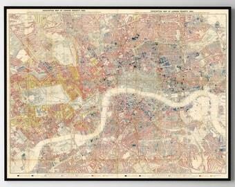 London Map Print, London Poster, London, London Decor, London Art, London Canvas, London Map, London Wall Art, London Print, 215