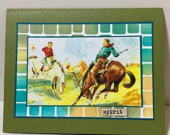 Cowboy Note Card - Rodeo - Western Theme - Western Card