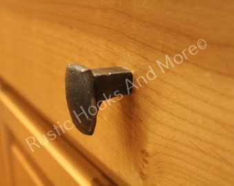 Railroad Spike Cabinet Knob. Drawer Pull.