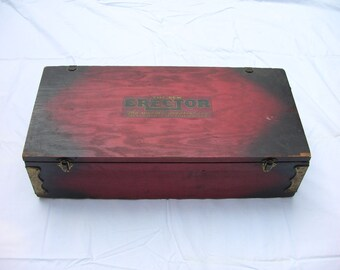 Vintage Gilbert Erector Set in Wooden Box