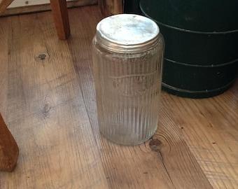 Vintage Hoosier Embossed Coffee Jar