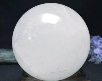 """4.33"""" Natural Large White Crystal Quartz sphere Ball/High quality White Crystal sphere/Large White Quartz balls-110mm 1934g"""
