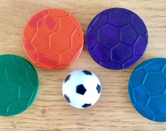 Football Crayons-Football Party-Football Party Favours- Sports Crayons- Sports Party Favours- Novelty Crayons-Boys Crayons-Boys Party Favour