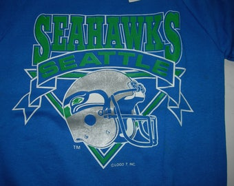 Vintage Seattle Seahawks NFL football sweatshirt by LOGO7 made in the USA New with sticker